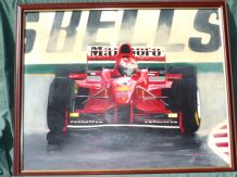 Ferrari F300 Eddie Irvine. Acrylic on Canvas board